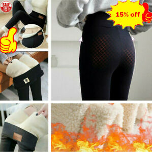 Womens-Super-Thick-Cashmere-Leggings-Fleece-Lined-Thermal-Stretchy-Pants-2020