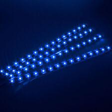 4x Waterproof 15 LED 30cm Car Lighting Flexible Decorative Light Lamp Strip Blue