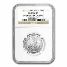 New 2012 GB Silver Britannia 1/2oz NGC PF70 Ultra Cameo Graded Slab Coin