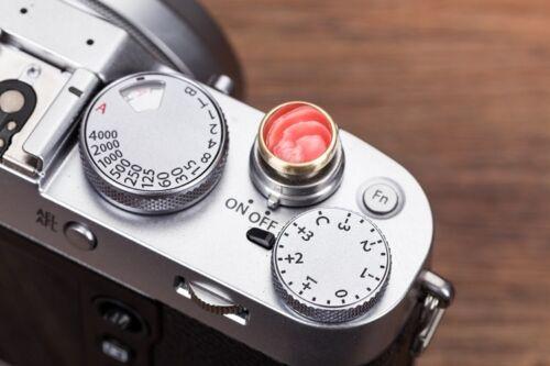 Copper Color Stone Release Shutter Button for Fuji X100F XT20 Nikon Canon Leica