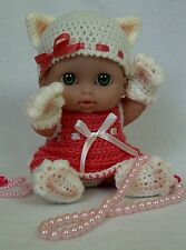 "8"" -8.5"" Berenguer Lil 'Doll Outfit Crochet Pattern-Lucky Cat Kitty"
