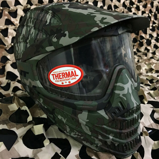 Jt flex 8 paintball mask thermal camo