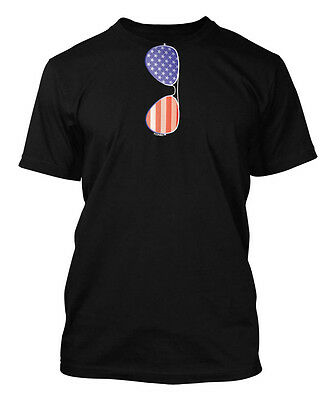USA Pride Shades Men/'s SLEEVELESS T-shirt American Flag Aviator Glasses