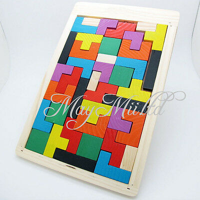 Tetris Montessori 3D Children's Kids Educational Baby Toddler Wooden Puzzle Toy