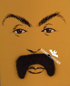 Fu Man Chu Faux Black Mustache With Stick On Tape