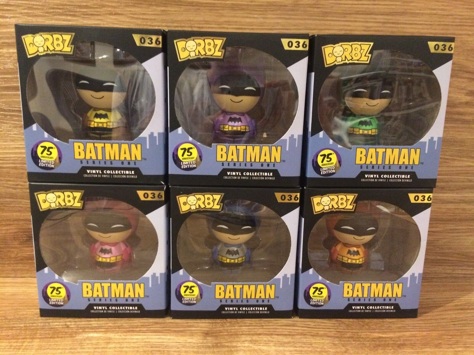Funko Dorbz DC Batman Series One 036 Batman 75th Anniversary Limited Edition Set