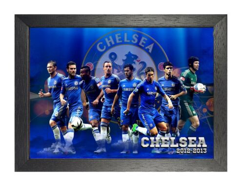 Chelsea FC 2 Photo 2012 2013 Print Football Players Picture Sports Game Poster