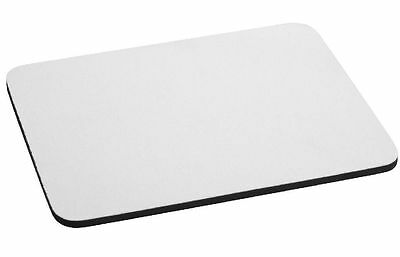 5mm Very Thick, Top Quality RECTANGLE WHITE MOUSE MAT Blank Sublimation