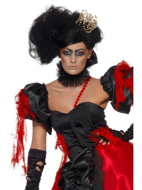 Damen Perücke Königin Twisted Queen of Broken Hearts Langhaar Karneval neu