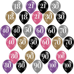 Pink-Gold-Black-Celebration-Party-Supplies-Printed-Latex-Happy-Birthday-Balloons
