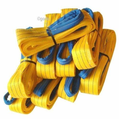 SET=10x Hebeband 3 t L=4m Krangurt Schlaufenband Kran Bergegurt Schlupp Hebegurt