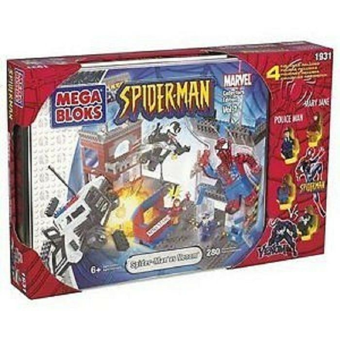 Mega Bloks Spiderman v Venom Collectors Edition Included  1931 1911, 1912  RARE