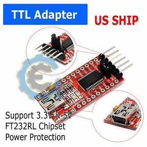 FT232RL-3-3V-5-5V-FTDI-USB-to-TTL-Serial-Adapter-For-Arduino-Mini-Port-N137