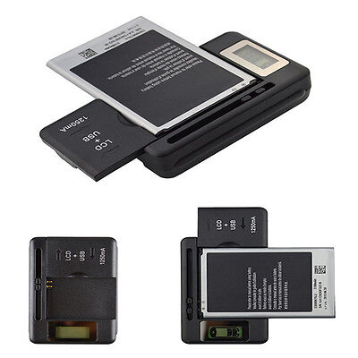 Mobile Universal Battery Charger LCD Indicator Screen for Cell Phones USB-Port J