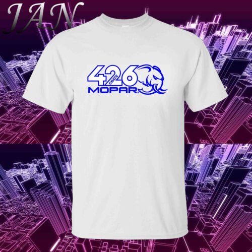 Mopar Dodge 426 Crate HEMI HELLEPHANT Adult Cotton Motorsport Tee T-Shirt