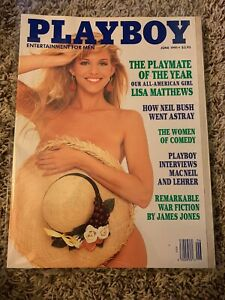 "details about playboy magazine june 1991 ""the playmate of the year lisa  matthews"""