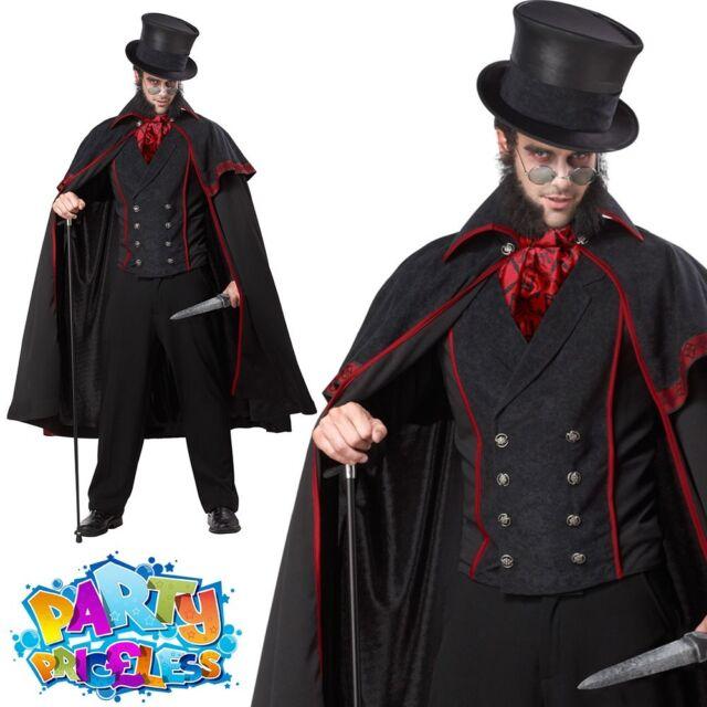 Mens Jack The Ripper Victorian London Halloween Fancy Dress Costume