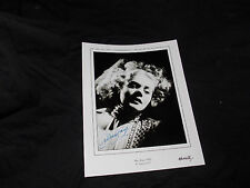 ALICE FAYE SIGNED 8X10 GLAMOUR PORTRAIT PHOTO TAKEN BY GEORGE HURRELL