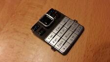 TASTATUR / KEYPAD  für Nokia 6300 / 6300i ; in der Farbe   schwarz-silber  NEU !