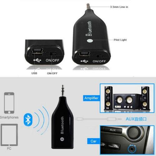 1x Wireless Bluetooth 3.0 Car AUX Handsfree Speaker Music Receiver Audio Adapter