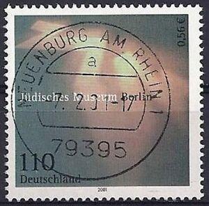 Bund-BRD-Germany-Mi-Nr-2216-aus-2001-Gestempelt-Used-Stempelfaelschung