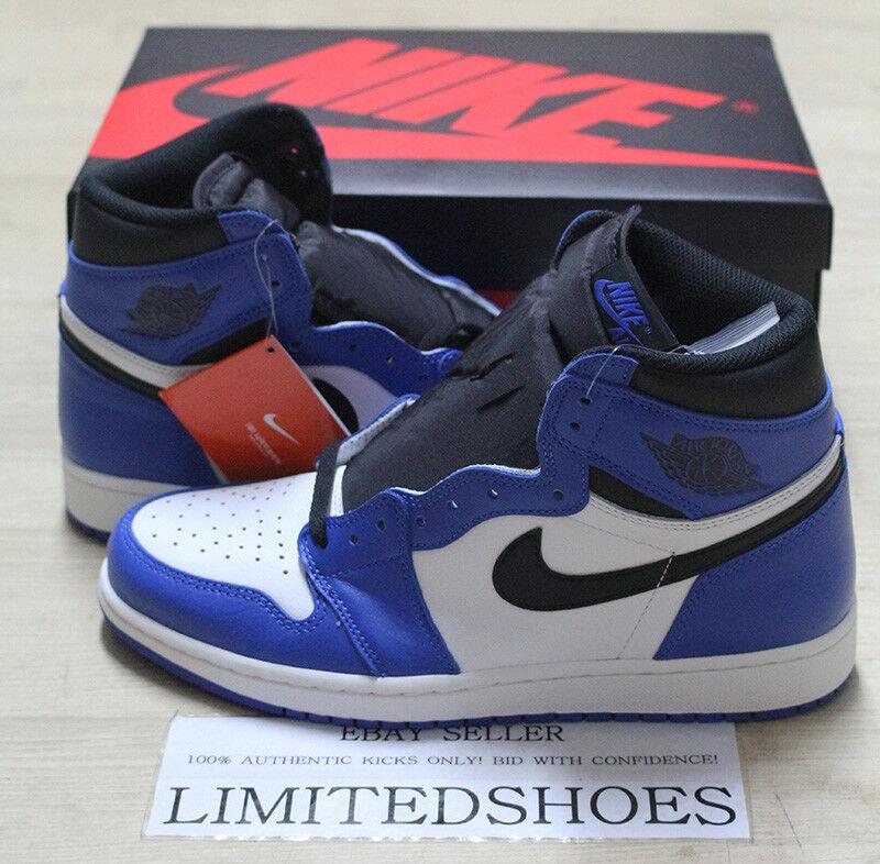 NIKE AIR JORDAN 1 RETRO HIGH OG GAME ROYAL blueE BLACK 555088-403 MENS US 9 SIZE