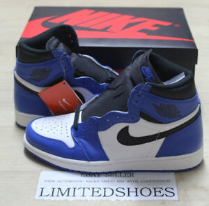 b6b3dd690e7fc NIKE AIR JORDAN 1 RETRO HIGH OG GAME ROYAL BLUE BLACK 555088-403 ...