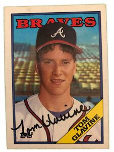 Tom Glavine Rookie Card 1988 Signed Topps #779