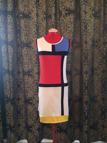 ORIGINAL MONDRIAN DRESS REPLICA HANDMADE 1960s MOD