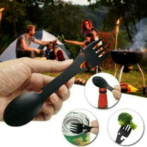 Titanium Fork Spoon Spork Cutlery Utensil Combo Outdoor Z4K8 Hiking Camping I0L9
