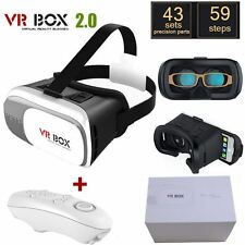 3D Virtual Reality VR Box 2.0 Glasses Headset Helmet + Remote for iPhone Android