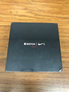 e0940e97ffe3 Details about Apple Watch Series 3 Nike+ 42mm Silver Aluminium Case with Bright  Crimson Black
