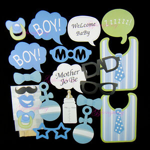 Image Is Loading 20PCS Baby Shower Photo Booth Props New Born