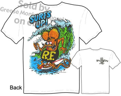 Surfs Up Tee Ratfink T Shirt Ed Roth Rat Fink Clothing Big Daddy Roth Garage Tee
