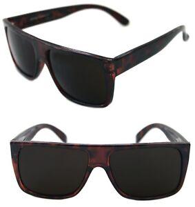 39fcadad25 Men s Flat Top Sunglasses Square Shape Brown Tortoise Frame Retro ...