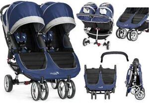 Details about BABY JOGGER WÓZEK GESCHWISTERWAGEN CITY MINI DOUBLE Twin Baby Pushchair COBALT
