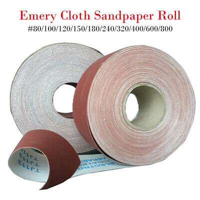 Coarse Emery Cloth Roll Medium Fine Various Lengths 80,100,120,150 Grit..new