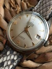 1950s Angelus Stainless Steel Automatic Mens Watch