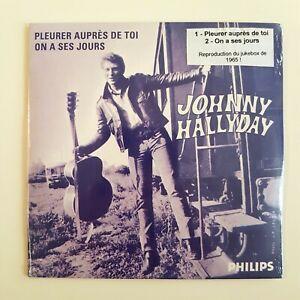 JOHNNY-HALLYDAY-CD-PROMO-NEUF-SOUS-BLISTER-PLEURER-AUPRES-DE-TOI-1965