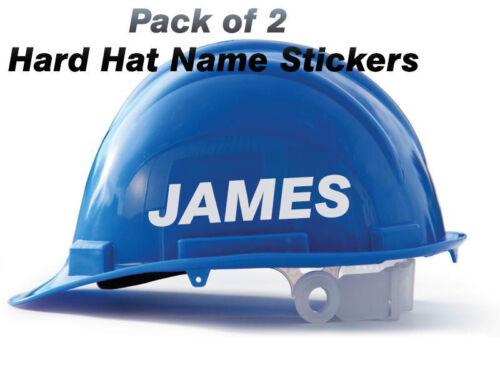 Custom Hard hat Helmet stickers x2 supervisor, foreman, security, surveyor ETC
