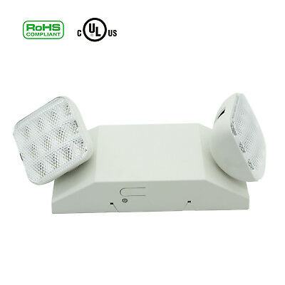Led Emergency Exit Light Led Lamp Lighting Fixture Twin Square Head Ultra Bright