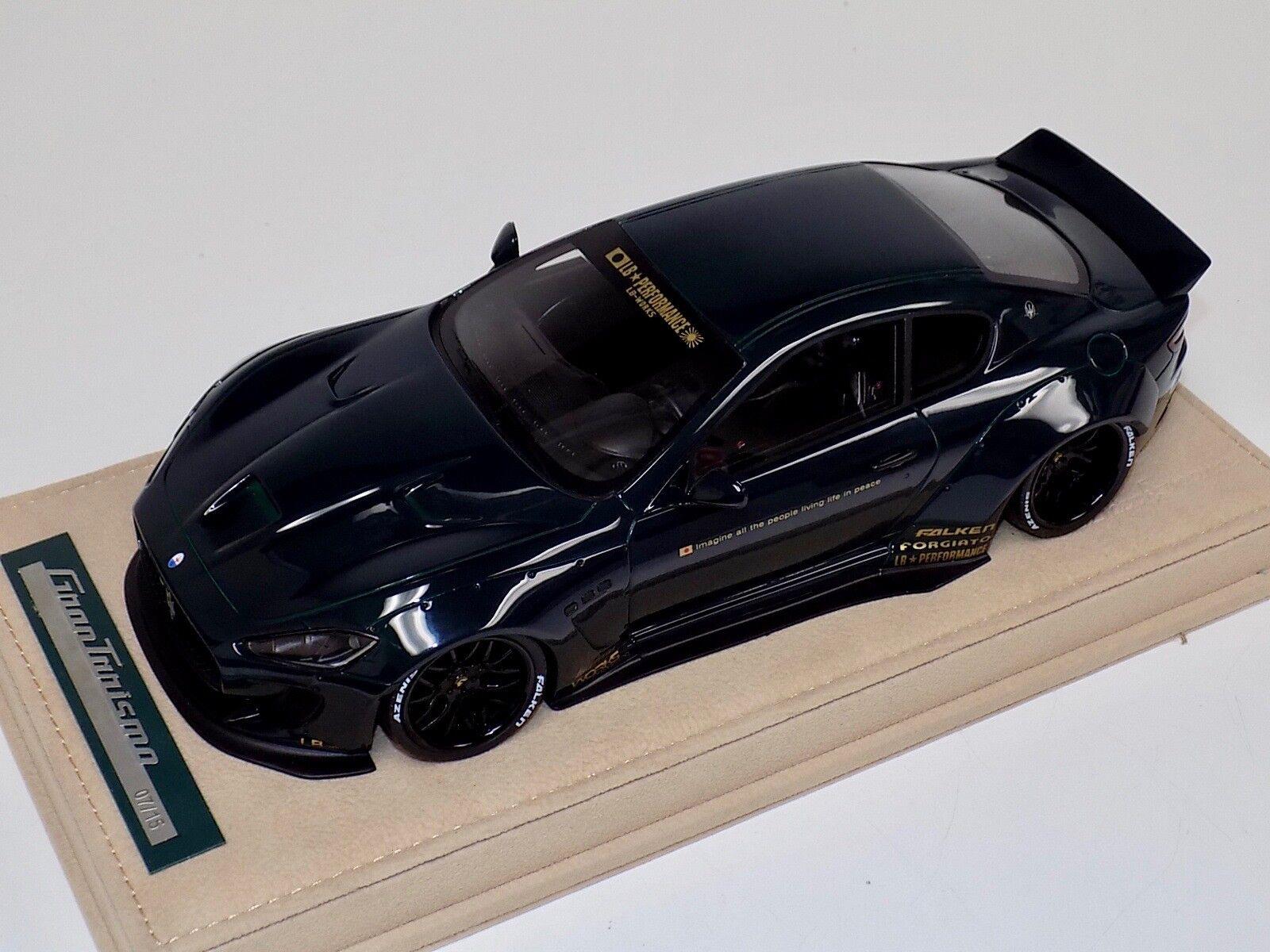 1 18 AB Models Models Models Maserati Granturismo Liberty walk Green No Decals Alcantara e66