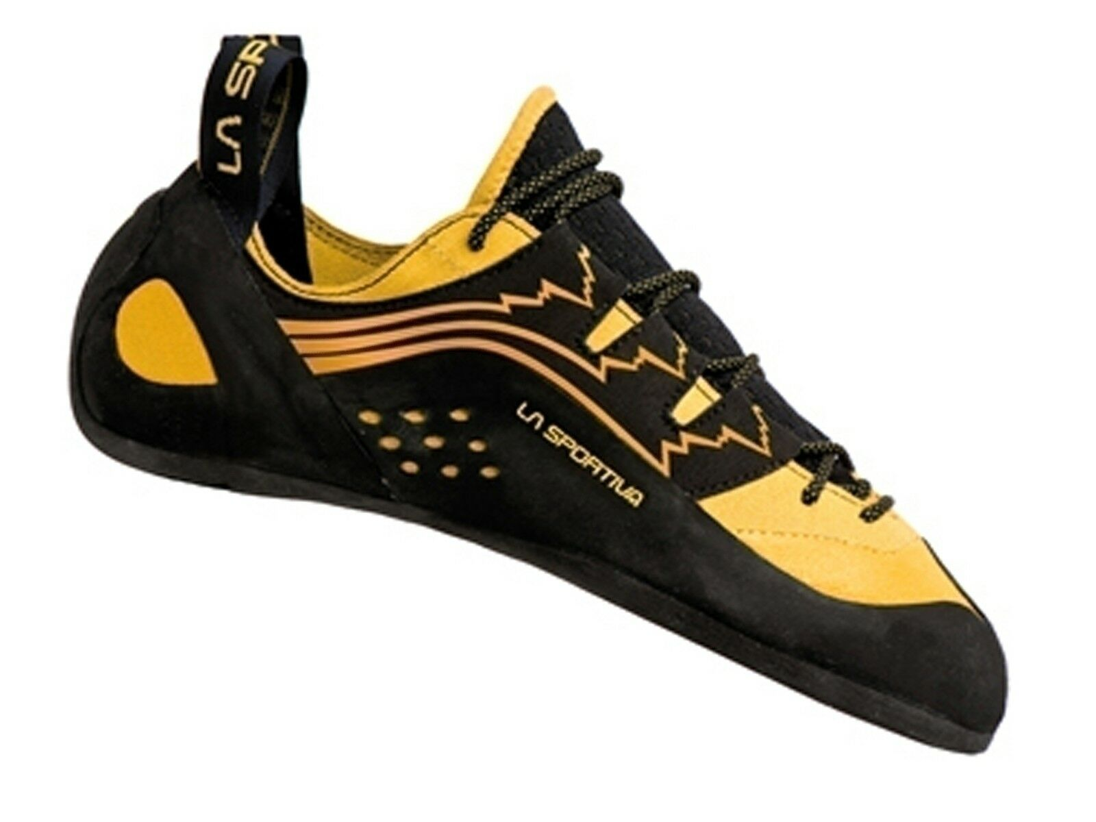 shoes ARRAMPICATA men LA SPORTIVA  800  KATANA LACES black yellow