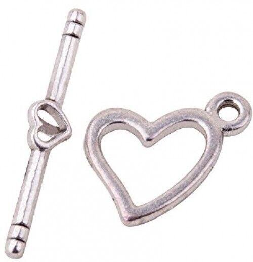 20 Sets Tibetan Alloy Spiral Vortex Toggle Clasps Antique Silver Closures 26mm