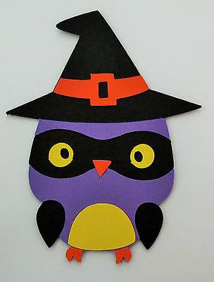 Halloween Owl Witch Die Cut Paper Scrapbook Embellishment