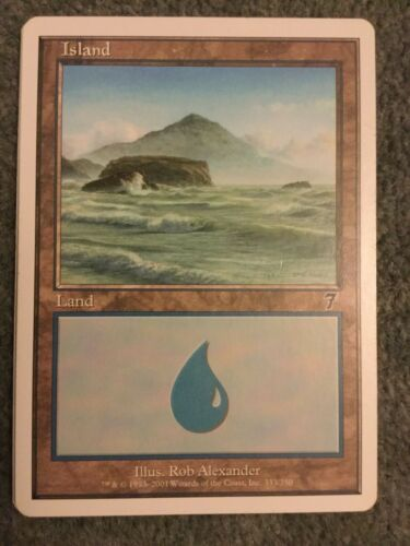 Common Magic The Gathering Island Land Card Mint Seventh Edition