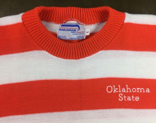 True Vintage 80s Deadstock Oklahoma State University OSU Cowboys Striped Sweater