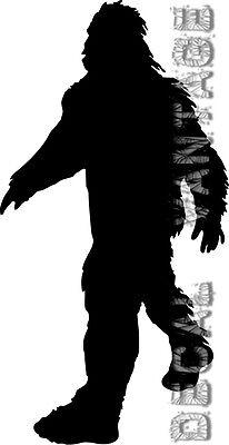 Bigfoot Vinyl Sticker Decal Walking Cryptozoology Alien - Choose Size & Color