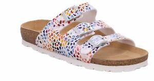 Rohde Alba 5620 Damen Sandale Sandalette Pantoletten Weiß Muticolour 08