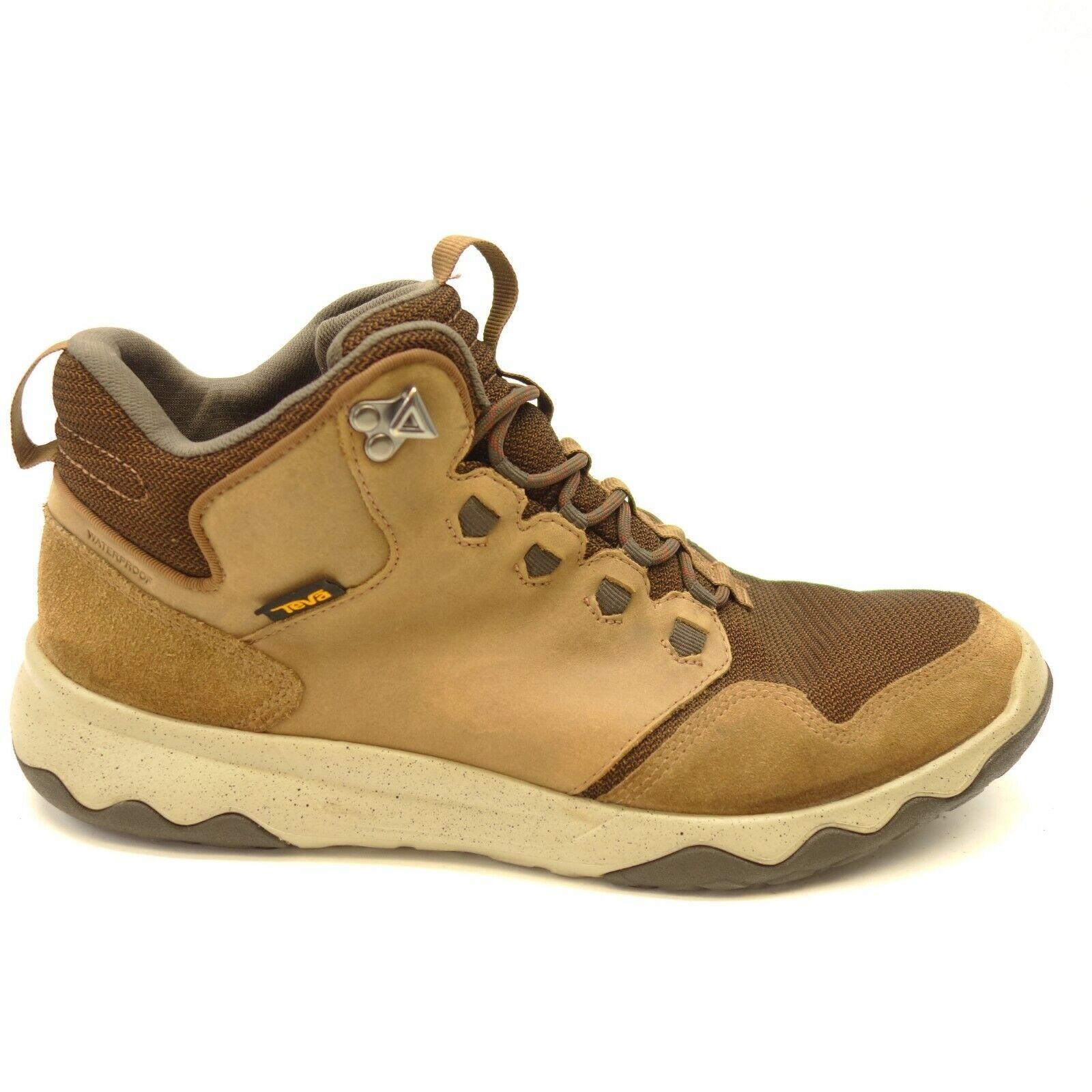 Teva Arrowood Riva US 13 Brown Mid Waterproof Hiking Trail Mens shoes